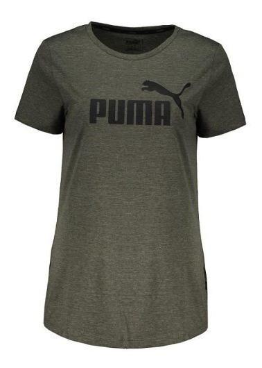 Remera Puma Essentials Heather De Mujer- Woker