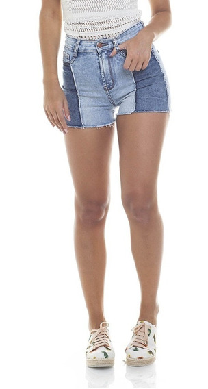 Shorts Feminino Pin Up Com Recorte Denim Zero-dz6279