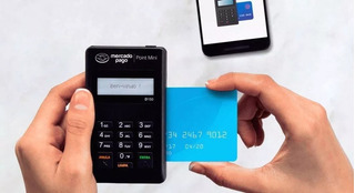 10 Máquinas Cartão Point Mini + Panfletos + Cartões De Visit