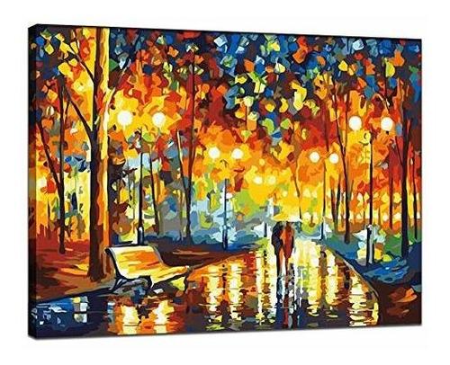 Pintura Liudao Por Numero Para Kit De Pintura Al Oleo Para