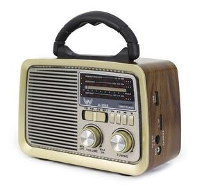 Radio Retrô Altomex A3188 Vintage Fm Am Sd Usb Antigo Bivolt