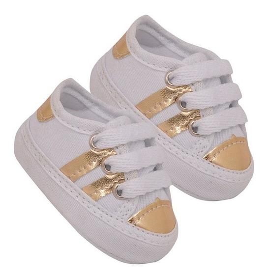 Tênis Baby - Branco/dourado