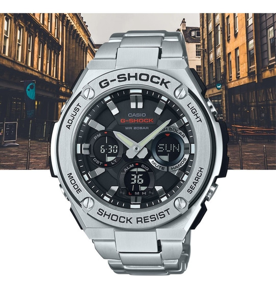 Relógio Casio G-shock Masculino G-steel Gst-s110d-1adr Prata