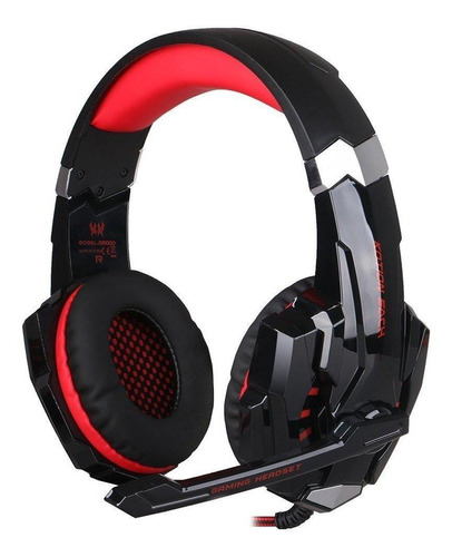 Imagen 1 de 2 de Audífonos gamer Kotion Each G9000 black y red