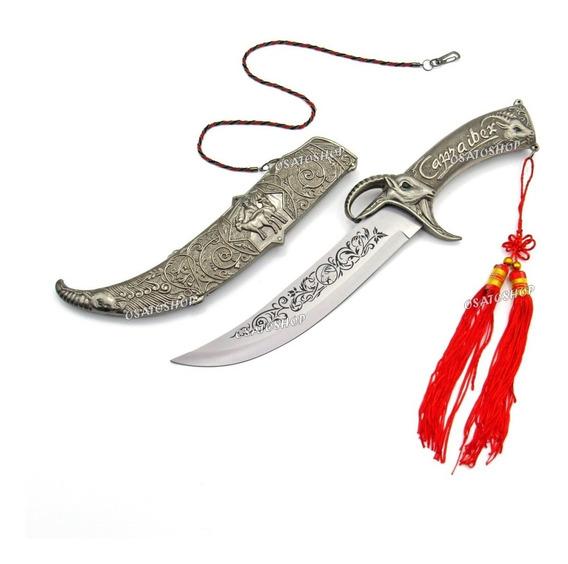 Adaga Espada Alto Relevo Mitológica Bode Cabra Metal Pesado