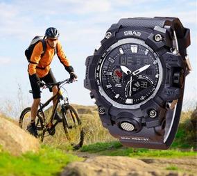 Relógios Masculinos Social Digital Pulseira Preto Promoção