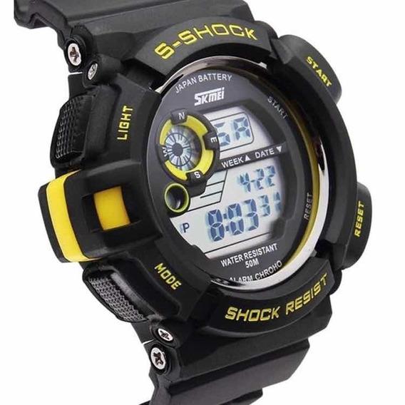 Relógio Digital Original Militar Shock Esportivo Calendário