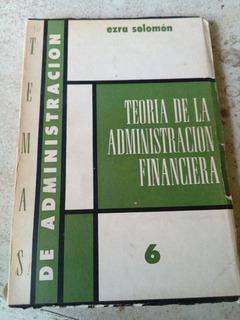 Teoria De La Administracion Financiera- Ezra Solomon- 1965