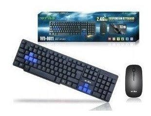 Teclado Game E Mouse Sem Fio - Via Wireless 24ghz - Xzhang