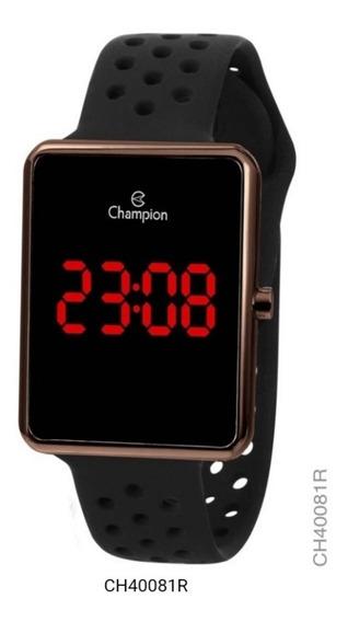 Relógio Champion Digital Led Original Ch40081r Unissex