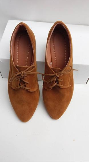 Kit 2 Pares Oxford Camurça Caramelo E Preto - Perfeito Shoes