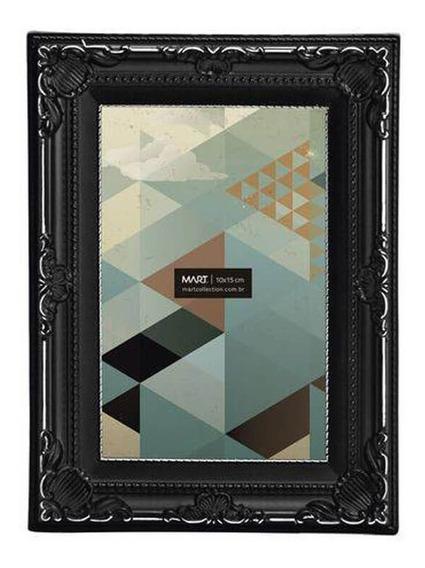Porta Retrato Retangular Mart Collection 10x15cm Preto Antiq
