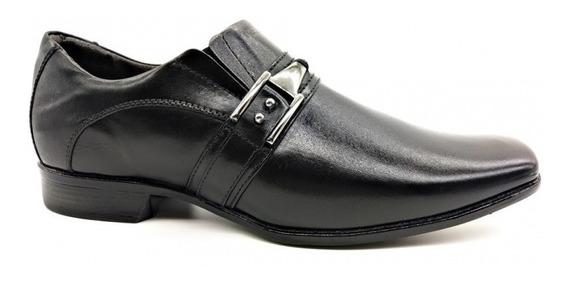 Sapato Social Preto Kéffor Masculina. 100% Couro Legítimo