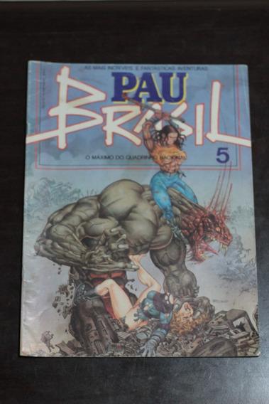 Hq Pau Brasil Nº5 Ed. Vidente Gibi Antigo Raro 1993
