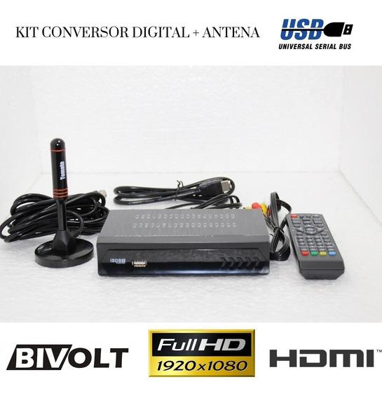Conversor Tv Digital Gravador Usb Antena Hdtv Tomate