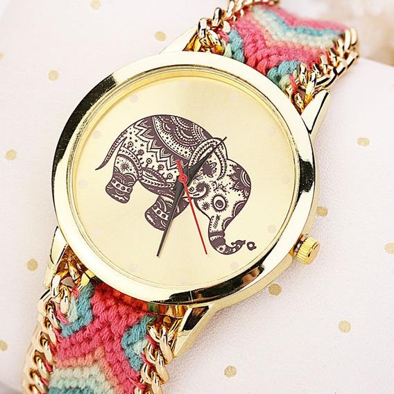 Reloj Con Pulsera Tejida