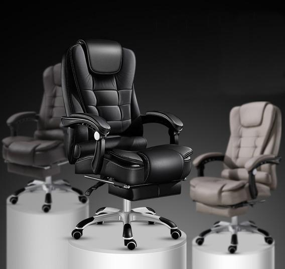 Cadeira Home/office Com Massagem Apoio Nos Pés.