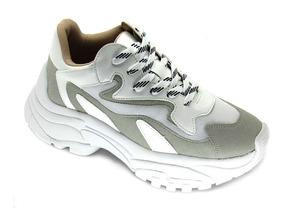 Tênis Zatz Feminino Chunky Sneakers Zatz White Lançamento