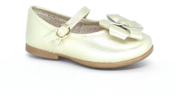Sapatilha Festa Dourada Bebê Infantil Kidy Conforto 0150272