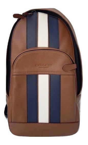 Coach Mochila Hombre Slim Backpack Café F49318 100% Original