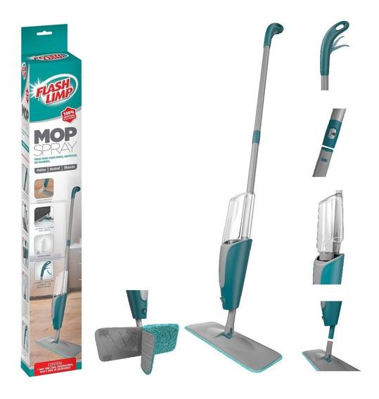Mop Spray Com Reservatório E Cabo De Aço Inox Flashlimp