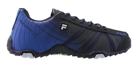 Tenis Masculino Fila Slant Summer 2.0 Azul Preto Original