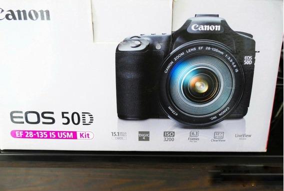 Câmera Fotográfica Canon 50d, Objetiva Cano 28-135