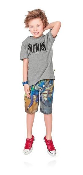 Conjunto Menino Camiseta E Bermuda - Batman