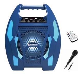 Parlante Portatil Bluetooth Bateria Interna Para Microfono Fm Karaoke