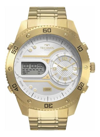 Relógio Technos Masculino Dourado Legacy 2039cb/4x