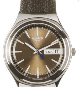 Raro Relógio Swatch Masculino Irony Ygs748 Brown Suit