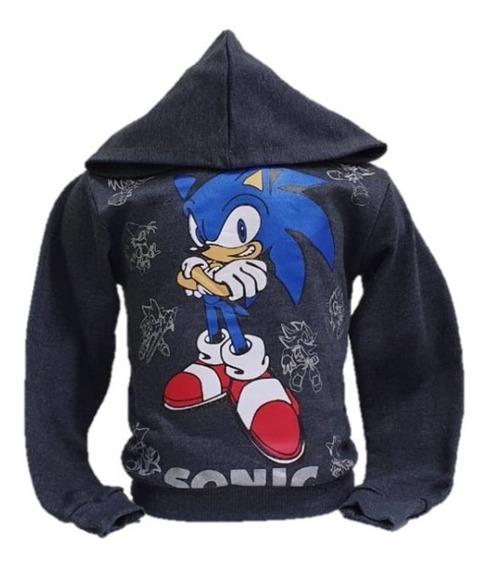 Blusa Agasalho Moletom De Frio Com Capuz Sonic Promoção