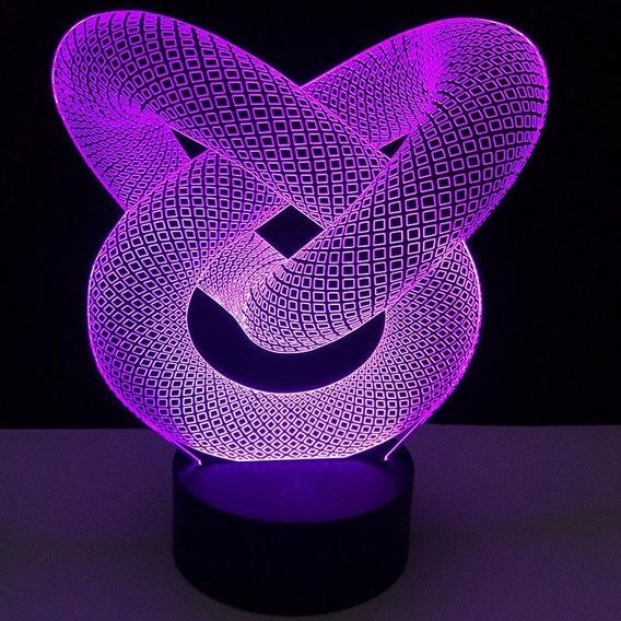 Base Led Para Luminaria Abajur Acrilico - Touch + Usb