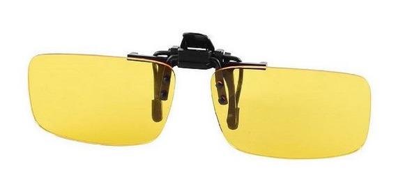Óculos Lentes Clip On Sobrepor Amarela Visão Noturna Max