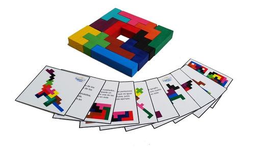Imagen 1 de 8 de Ingeniacrea: Pentominó De Madera Puzzle 3d Con Caja