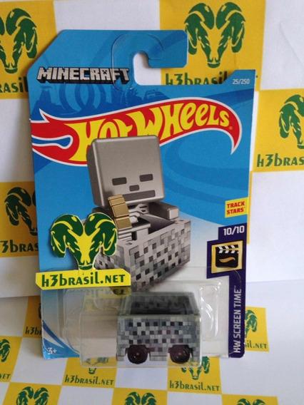 Bx133 Hot Wheels Game Jogo Minecart Minecraft H3br