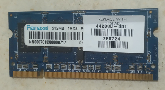 Memoria Ddr2 512mb Para Notebook Hp 44880-001