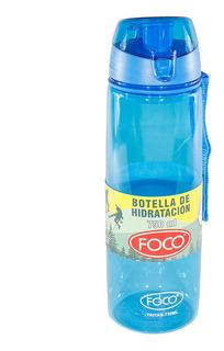 Botella De Hidratacion Con Filtro Foco Tritan Azul 750 Ml