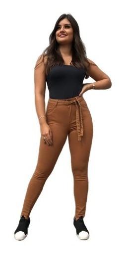 Calça Feminina Skinny Com Cinto Promoção