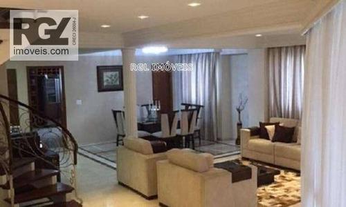 Imagem 1 de 20 de Cobertura Residencial À Venda, Gonzaga, Santos. - Co0161