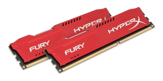 Memoria Ram 16gb Kingston Hyperx Fury Kit (2x8gb) 1333mhz Ddr3 Cl9 Dimm - Red (hx313c9frk2/16)