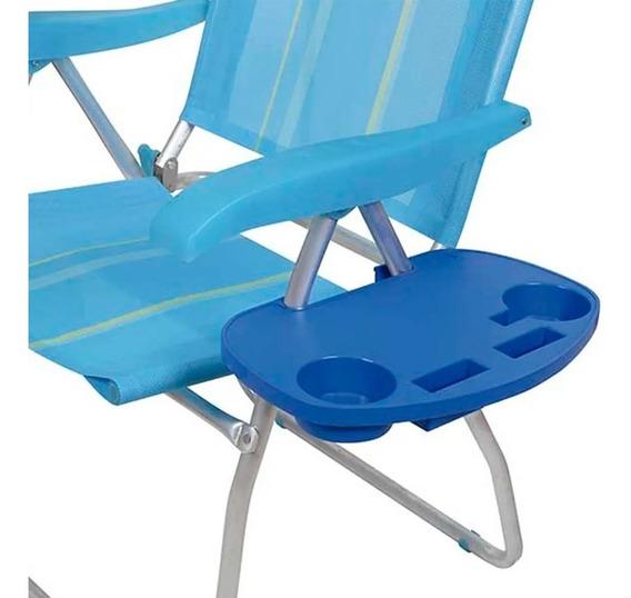 Mesa Portátil Para Cadeira De Praia Mor Porta Copo