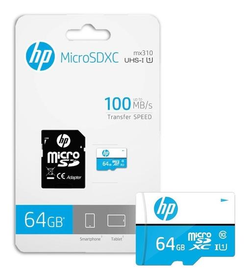 Memoria Micro Sd Hp 64gb Clase 10 U1 Original A1click
