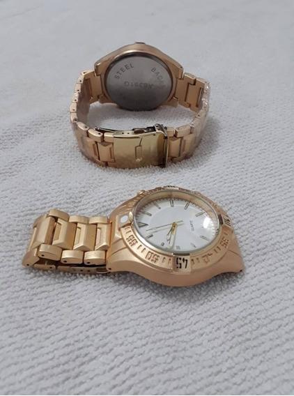 Relógio Dourado Novo Masculino