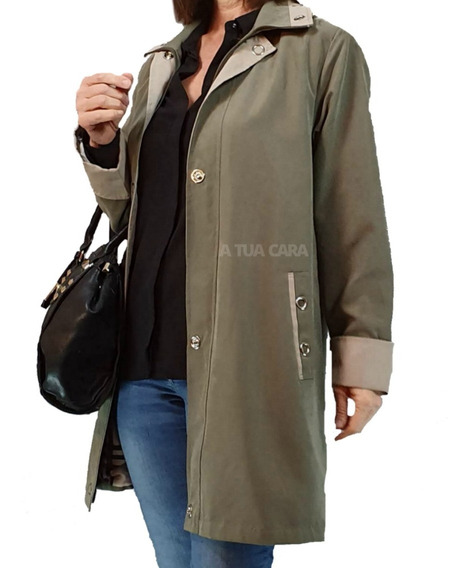 Piloto Campera Mujer Impermeable Microfibra Talles Grandes