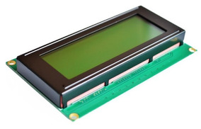 Display Lcd Backlight 2004 20x4 Módulo 5v Tela Verde Amerelo