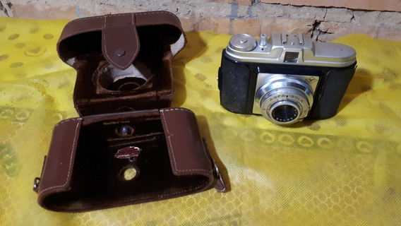Camera Maquina Fotografica Antiga Marca Agfa Com Capa