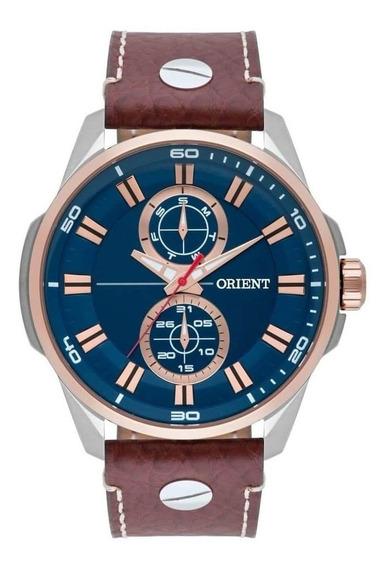 Relógio Orient Masculino Mtscm004 D1mb Pulseira De Couro