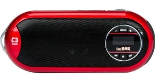 Caixa De Som Portátil C3tech St180 (vermelho)
