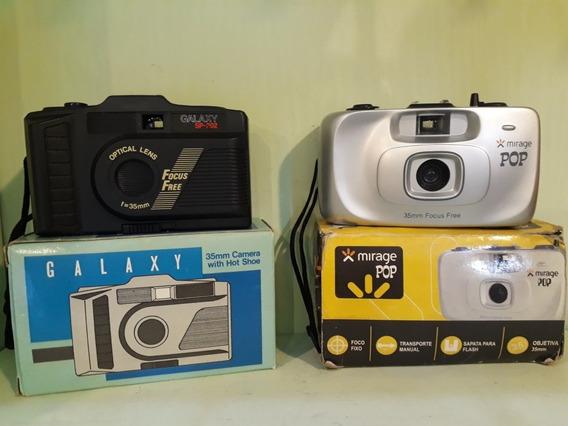 Camera Fotográfica Antiga Lote Duas Und Mirage Pop Galaxy